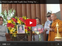 HT Thích Huyền Việt và Tâm Thư Viện Hoá Đạo Nhân Lễ Tưởng Niệm PT Lê Thị Tuyết Mai, 05.25.2014