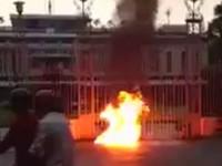 Hình ảnh Youtube Huynh Trưởng Lê Thị Tuyết Mai tự thiêu trước cổng dinh Độc Lập ngày 23 tháng 5 năm 2014