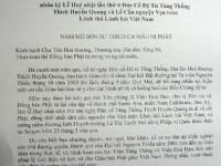 Đạo từ của Đức Tăng Thống Thích Quảng Độ và Huấn từ của Hòa thương Viện trưởng Viện Hóa Đạo Thích Như Đạt gửi đến Lễ Húy nhật Đức cố Đệ tứ Tăng Thống Thích Huyền Quang và Lễ Cầu nguyện cho Vẹn toàn lãnh thổ lãnh hải Việt Nam