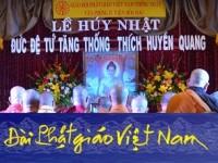 [Đài Phật giáo Việt Nam, ngày 27.6.2014 ] Đạo từ của Đức Tăng Thống Thích Quảng Độ và Lễ Huý Nhật Đức cố Tăng Thống Thích Huyền Quang, Cầu nguyện cho Vẹn toàn Lãnh thổ Lãnh hải Việt Nam, và Cầu siêu tưởng niệm Phật tử Lê Thị Tuyết Mai