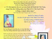 [Poster] Thư Mời Lễ Huý Nhật Đại Lão Hoà Thượng Thích Huyền Quang