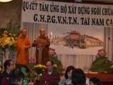Phật Quang : Ngôi Chùa Chung đã thành tựu với sự chung tâm góp của để tạo mãi của chư Tăng Ni, Phật tử từ Hoa Kỳ, các Châu và Việt Nam – Lá Thư Tuần thứ 9