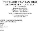 """Tổ hợp Luật sư The Tammy Tran Law Firm tiến hành thủ tục yêu cầu Nhóm Giác Đẳng – Steven Điêu – Trần Thị Bạch Vân """"Ngưng ngay những việc làm bất hợp pháp"""""""