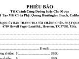 Uỷ ban Thanh Lý Tài sản chùa Phật Quang của Sư Giác Đẳng là tổ chức bất hợp pháp trong việc hoàn trả tiền nợ mua chùa Phật Quang và sẽ gây hậu hoạ cho chính Giáo hội Mẹ : GHPGVNTN