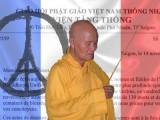Đức Tăng Thống Thích Quảng Độ viết thư gửi Tổng thống Pháp François Hollande chia buồn nhân dân Pháp sau vụ tấn công khủng bố đẫm máu hôm thứ sáu vừa qua