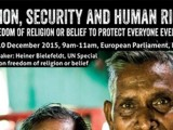 """Ngày Nhân quyền Quốc tế : Cơ sở Quê Mẹ và EPRID tổ chức Hội luận """"Tôn giáo, An Ninh và Nhân Quyền"""" tại Quốc hội Châu Âu"""
