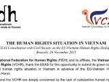 EU should press for substantive progress, not promises, at EU-Vietnam Human Rights Dialogue in Hanoi