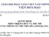 Quyết định cung thỉnh Hoà thượng Thích Toàn Lạc làm Tân Trú trì chùa Kim Quang, Huế — Câu Chuyện Cuối Tuần về Mười Hai Nhân duyên