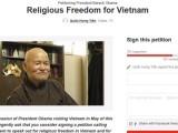 Kính xin Đồng bào Phật tử và Đồng bào các giới ký tên vào Thỉnh Nguyện Thư gửi Tổng Thống Obama nhân chuyến Tổng Thống công du Việt Nam cuối tháng 5 sắp tới — Câu Chuyện Cuối Tuần về Nhân Quả