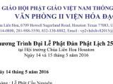 Chương Trình Đại Lễ Phật Đản Phật Lịch 2560
