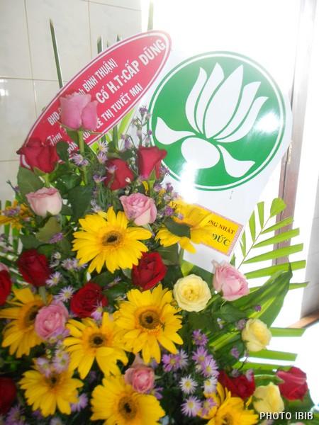 Vòng hoa của Ban Hướng dẫn GĐPT Bình Thuận