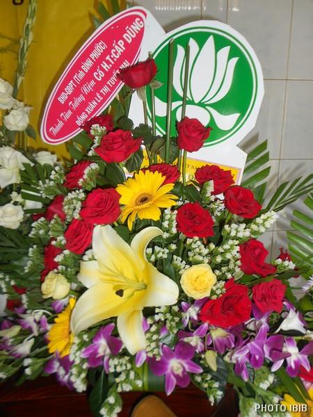 Vòng hoa của Ban Hướng dẫn GĐPT Bình Phước