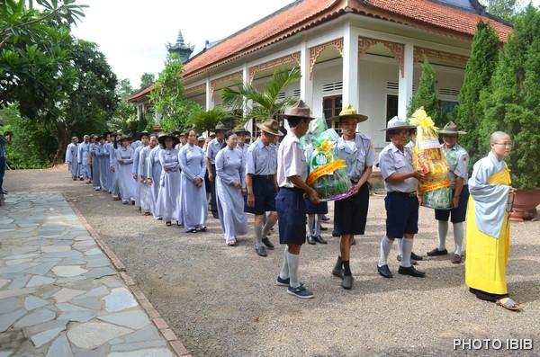 Các Huynh trưởng Gia Đình Phật tử đại diện trên toàn quốc tham dự Huý nhật lần 8
