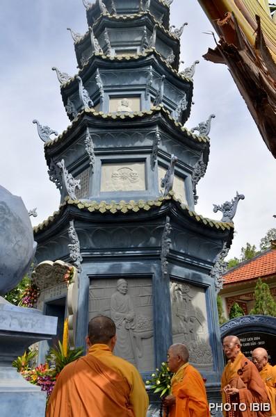 Chư Tăng và Phật tử Nhiễu tháp