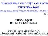 Thông điệp Vu Lan của Viện Hoá Đạo — Thông tin Phật sự của Văn Phòng II Viện Hoá Đạo và GHPGVNTN Hài ngoại tại Hoa Kỳ