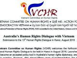 Úc Đại Lợi cần đòi hỏi những cải tiến nhân quyền cụ thể tại cuộc Đối thoại Nhân quyền ở Hà Nội, Uỷ ban Bảo vệ Quyền Làm Người Việt Nam kêu gọi