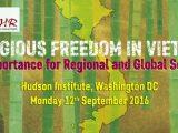 Ủy ban Bảo vệ Quyền Làm Người Việt Nam tổ chức Hội luận về Tự do Tôn giáo tại thủ đô Hoa Thịnh Đốn