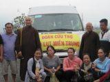 Báo trình Cứu Trợ lũ lụt đợt đầu tại 3 tỉnh Hà Tĩnh, Quảng Trị, Quảng Bình của Tổng vụ Từ thiện Xã hội, Viện Hoá Đạo