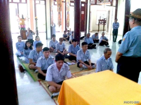 Nghe lời Huấn thị của lãnh đạo Gia đình Phật tử Việt Nam