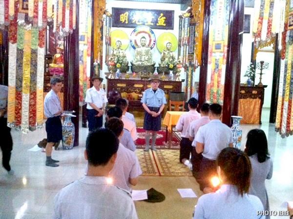 Lễ Thọ cấp tại Chánh điệm Tu viện Long Quang, Huế