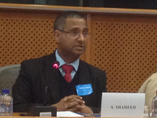 Dr. Ahmed Shaheed, UN Special Rapporteur on FoRB