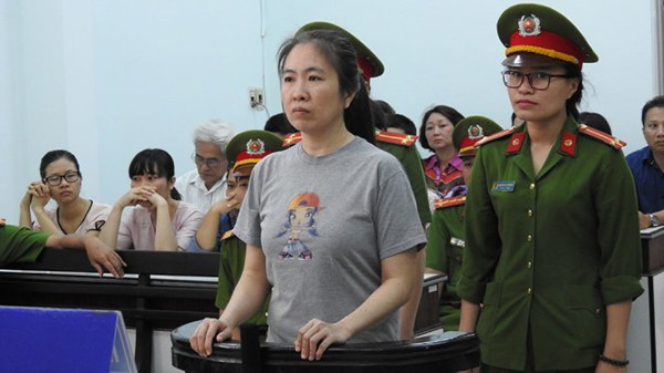 Nguyen Ngoc Nhu Quynh at her trial today (June 29, 2017)