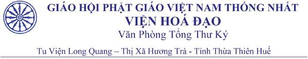 Cẩn trình của Văn phòng Viện Hoá Đạo về những đánh phá GHPGVNTN gần đây tại Hài ngoại — Trần tình của cựu Tổng Thư ký Võ Duy Linh về Foundation Thích Thiện Minh
