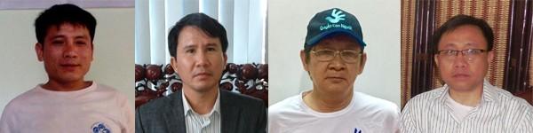 Pastor Nguyễn Trung Tôn, Phạm Văn Trội, Trương Minh Đức and Nguyễn Bắc Truyển