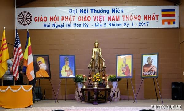 Hội trường Đại hội Thường niên lần 2 Nhiệm kỳ I GHPGVNTN-HN/HK Chùa Phật Pháp