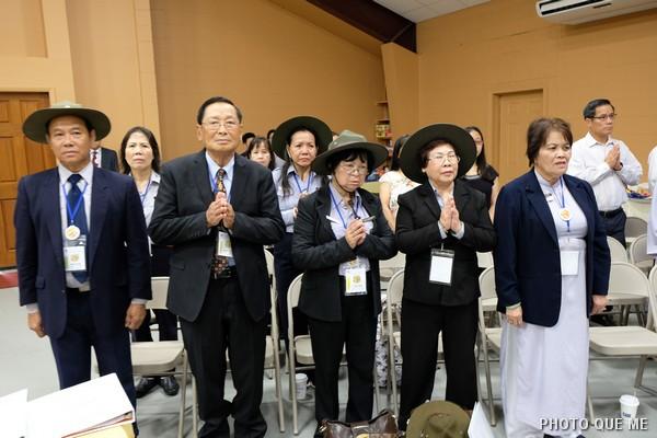 Một số Đại biểu Liên Đoàn Cựu Huynh trưởng và Đoàn sinh GĐPT
