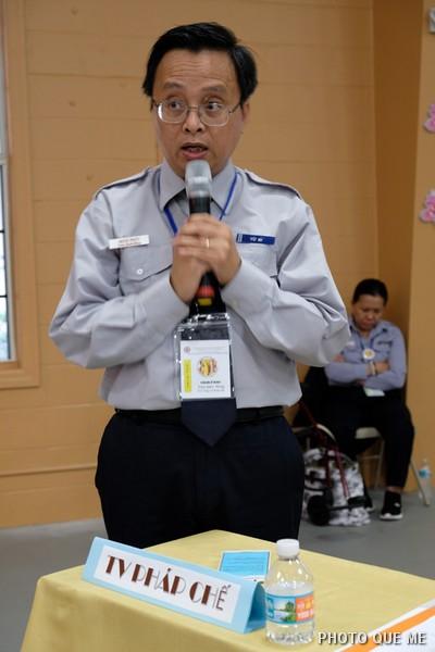 Đh Minh Phúc báo cáo Phật sự Tổng vụ Pháp Chế