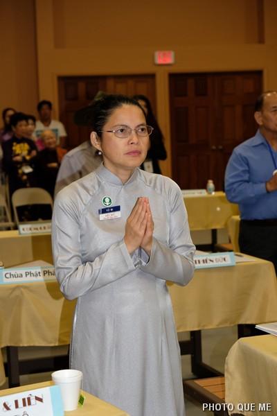Đh. Diệu Đức báo cáo Phật sự Tổng vụ Liên lạc Nội bộ