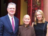 Tân Đại sứ Hoa Kỳ Daniel Kritenbrink và Bà Tổng Lãnh sự Mary Tarnowka đến Thanh Minh Thiền viện vấn an Đức Đệ Ngũ Tăng Thống Thích Quảng Độ