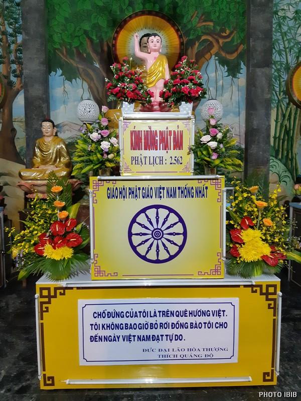 Lễ Đài Phật Giáng sinh tại Tu viện Long Quang, Huế