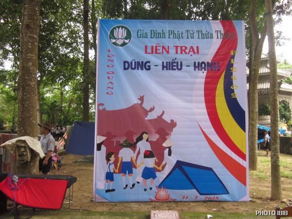 Entrée du Camp du MBJ à la Pagode Long Quang