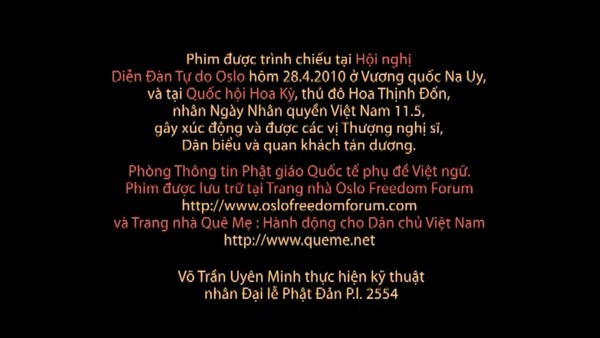 Trang hai Video gốc phỏng vấn do Phòng Thông tin Phật giáo Quốc tế ghi chú sự vụ thực hiện tháng 3 năm 2010 bị nhóm chuyển tiếp cắt bỏ
