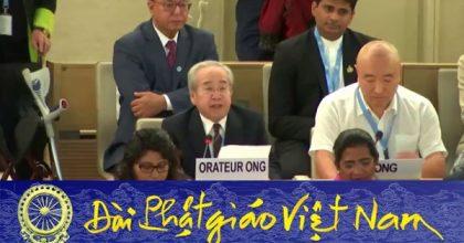 Ông Võ Văn Ái phát biểu trước Hội đồng Nhân quyền LHQ ở Genève