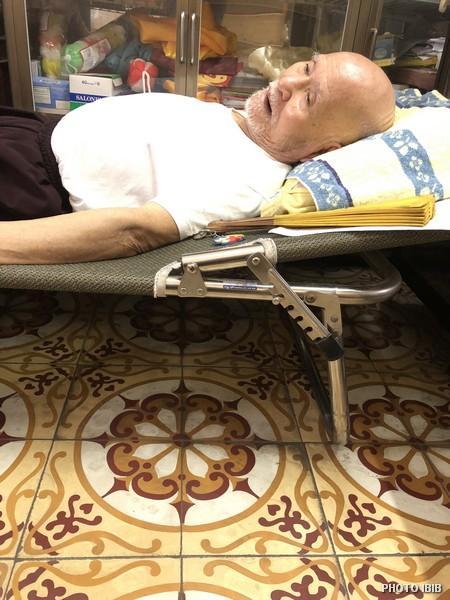 Đức Tăng Thống nằm nghỉ trong liêu phòng Thanh Minh Thiền Viện, Hình chụp ngày 12.7.2018