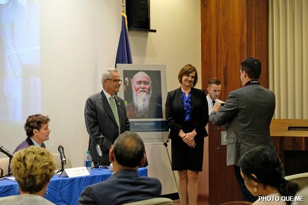 Congressman Alan Lowenthal and USCIRF Vice-Chair Kristina Arriaga