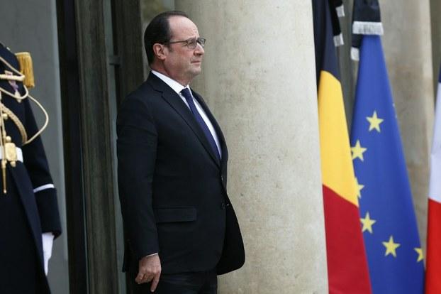 Tổng thống Pháp Francois Hollande tại điện Elysee ở Paris vào ngày 24 tháng 3 năm 2016 (AFP photo)
