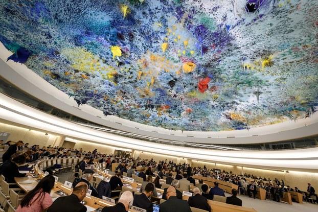 Toàn cảnh cuộc họp của Hội đồng Nhân quyền LHQ diễn ra tháng 11/2018 tại Geneve – Photo AFP