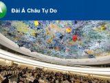Đài Á Châu Tự do tường thuật về sự kiện Uỷ ban Bảo vệ Quyền Làm Người Việt Nam tố cáo trước LHQ Việt Nam từ chối 50 khuyến cáo của các quốc gia về cải thiện nhân quyền