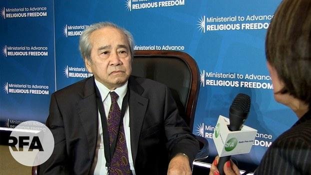 Ông Võ Văn Ái, chủ tịch Ủy Ban Bảo Vệ Quyền Làm Người Tại Paris, Pháp